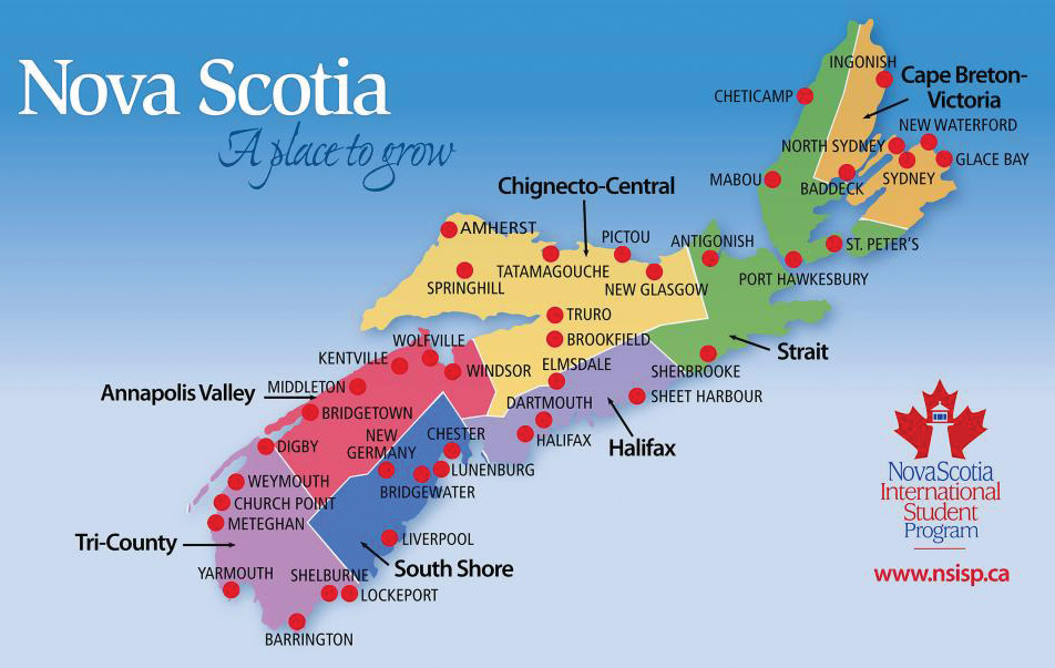 Nova Scotia School Boards Map